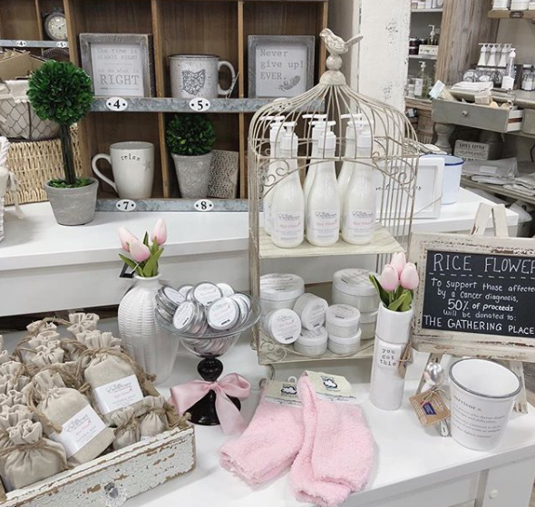Home decor store with bath and body products