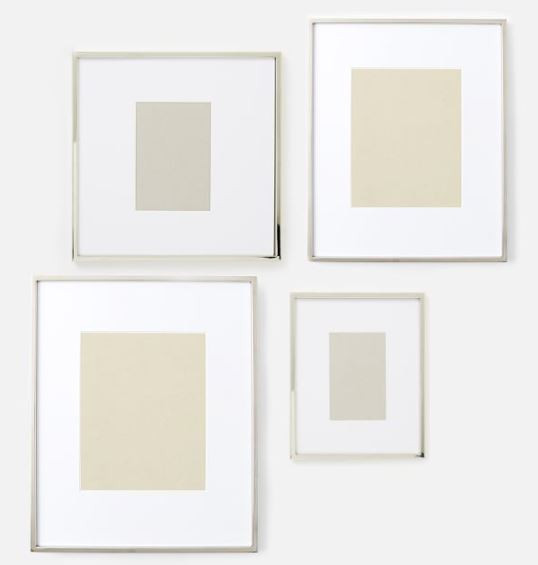 West Elm silver picture frames