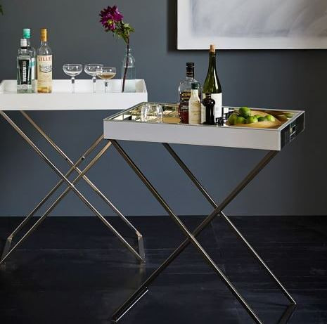 Mini bar tray stand from West Elm