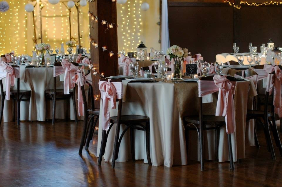 Rustic romantic farmhouse pink wedding