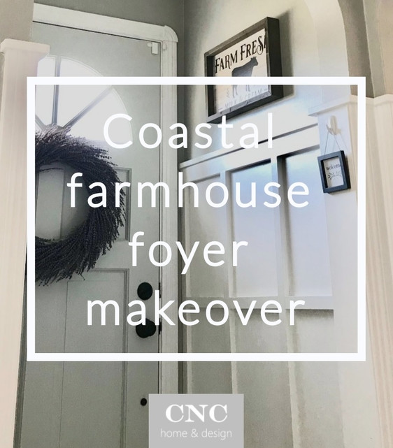 Welcome Home: A Coastal Farmhouse Foyer Makeover