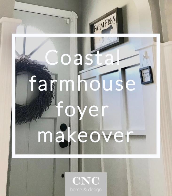 Modern Coastal Farmhouse Entryway Foyer Design