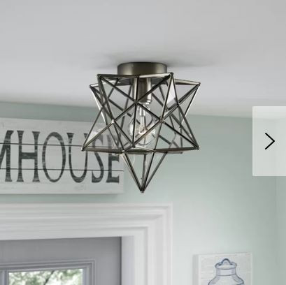 Star flushmount farmhouse light fixture Joss and Main