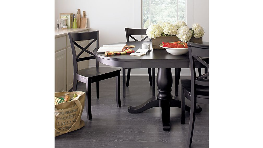 Avalon black round dining table