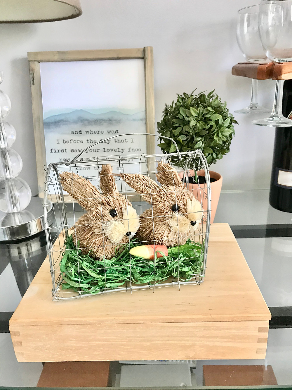 Bunny Easter Spring Home Decor