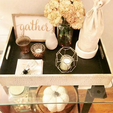 Fall home decor tray style