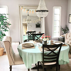 Farmhouse chic dining room interior desi