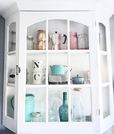 Vintage kitchen cabinet home decor