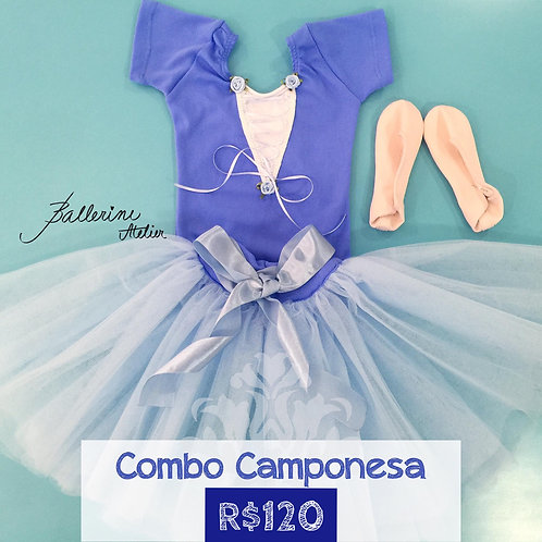 Combo Camponesa Azul