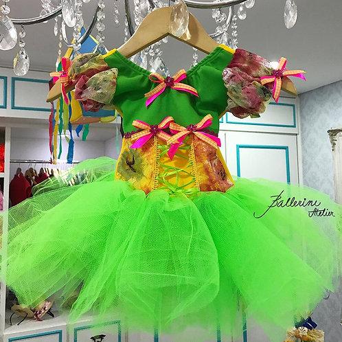 Vestido Junino Renda Verde