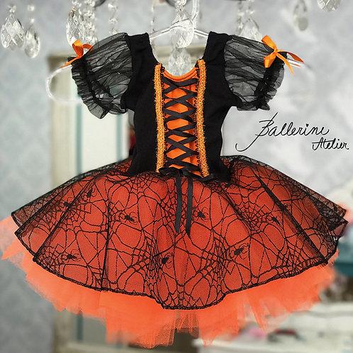 Vestido Halloween Saia Aranha