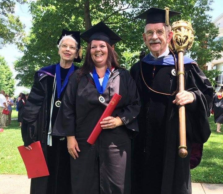 Jennifer with Dr. Dorothy Potter and Dr. Clif Potter (President of the Board of Sandusky)