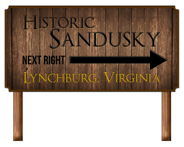Historic Sandusky sign created by Graphic Design student Ryan Creasy