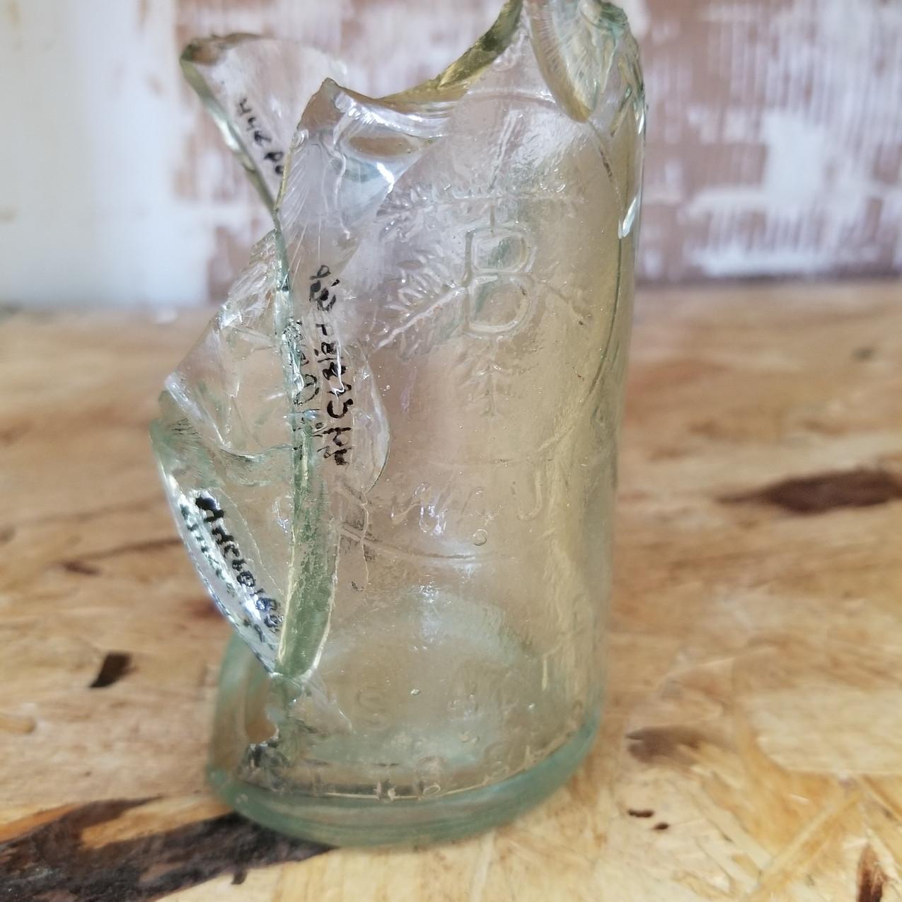 PBR bottle mended in lab