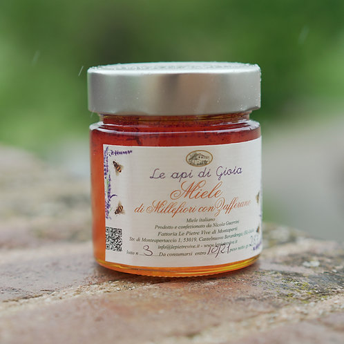 Saffron Infused mixed flower Honey