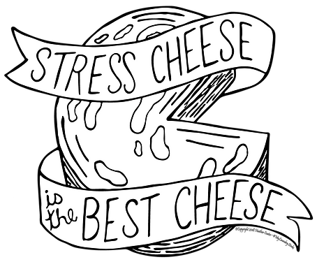 Stress Cheese bw.png