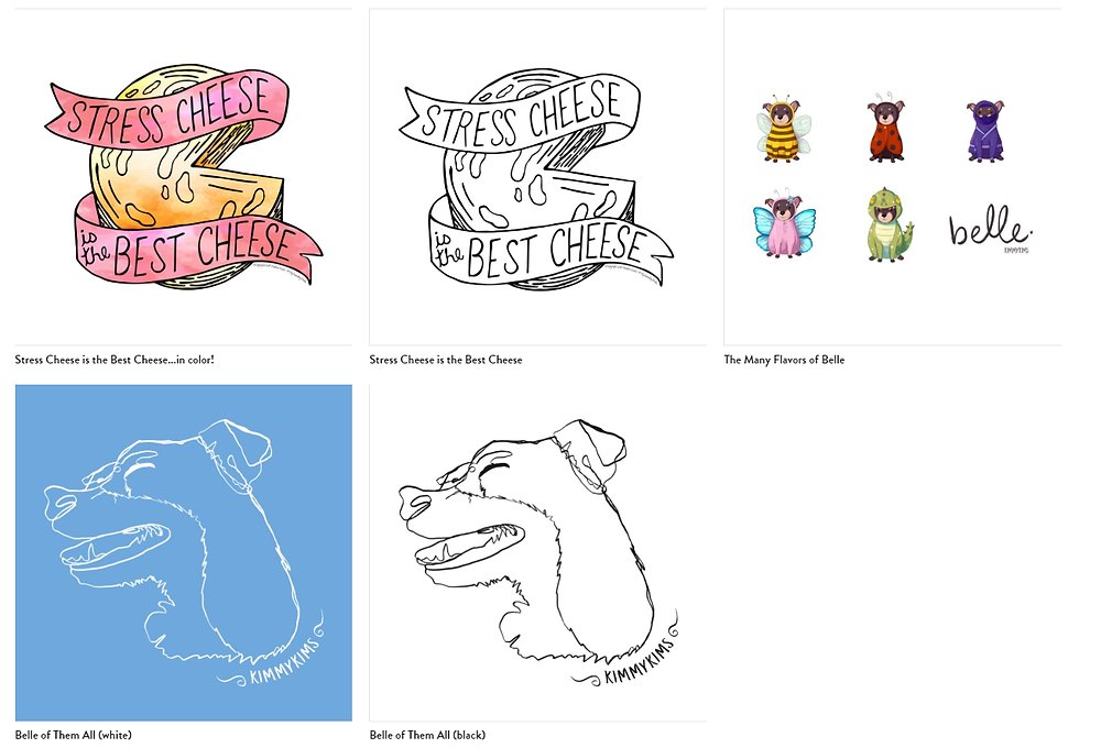 Visit the Threadless store at https://kimmykims.threadless.com