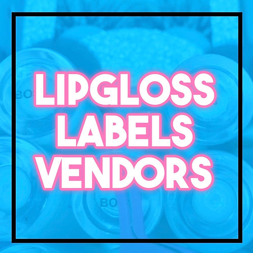 Lipgloss Labels Vendors List