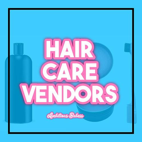 Hair Care Vendors