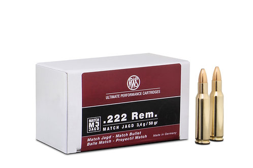 RWS .222 Rem. MJ 3,4gr.