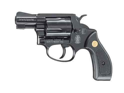 Smith&Wesson Chiefs Special Gas-Signal Revolver brüniert