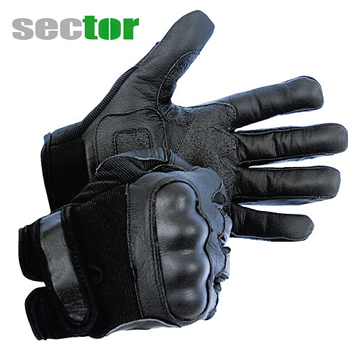 sector Handschuh mit kunststoffverstärkten Protektoren