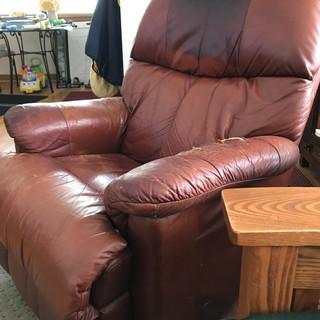 Frank's leather La-Z-Boy recliner