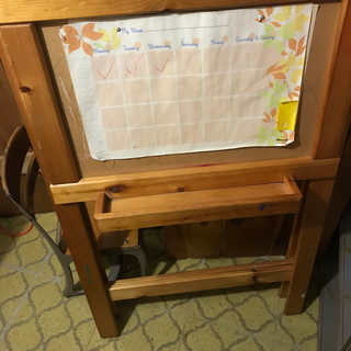 Easel other side