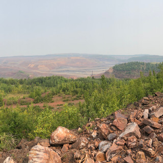 The new view of the open pit mining