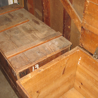 Two WWII shipping crates