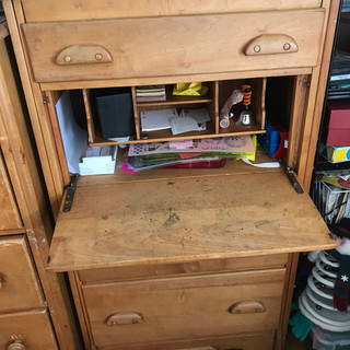 Dresser with drop-down desk