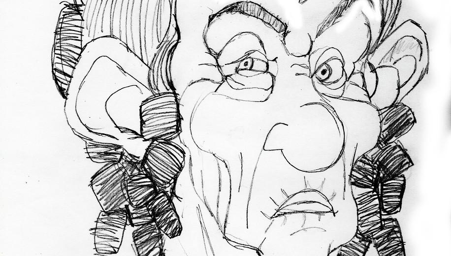 Sketch of Doña Porfiria