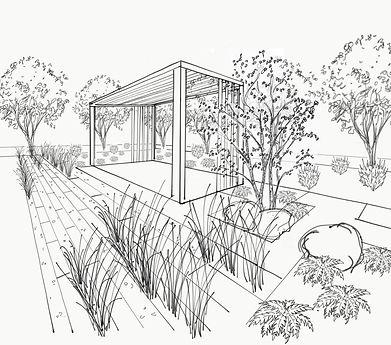 Plan d'aménagement paysager, archictecte-paysagiste, laurentides, architecture de paysage, aménagement extérieur, designer d'extérieur, plan extérieur, designer de jardin, concepteur de jardin, plan plantation, croquis aménagement paysager, aménagement paysager