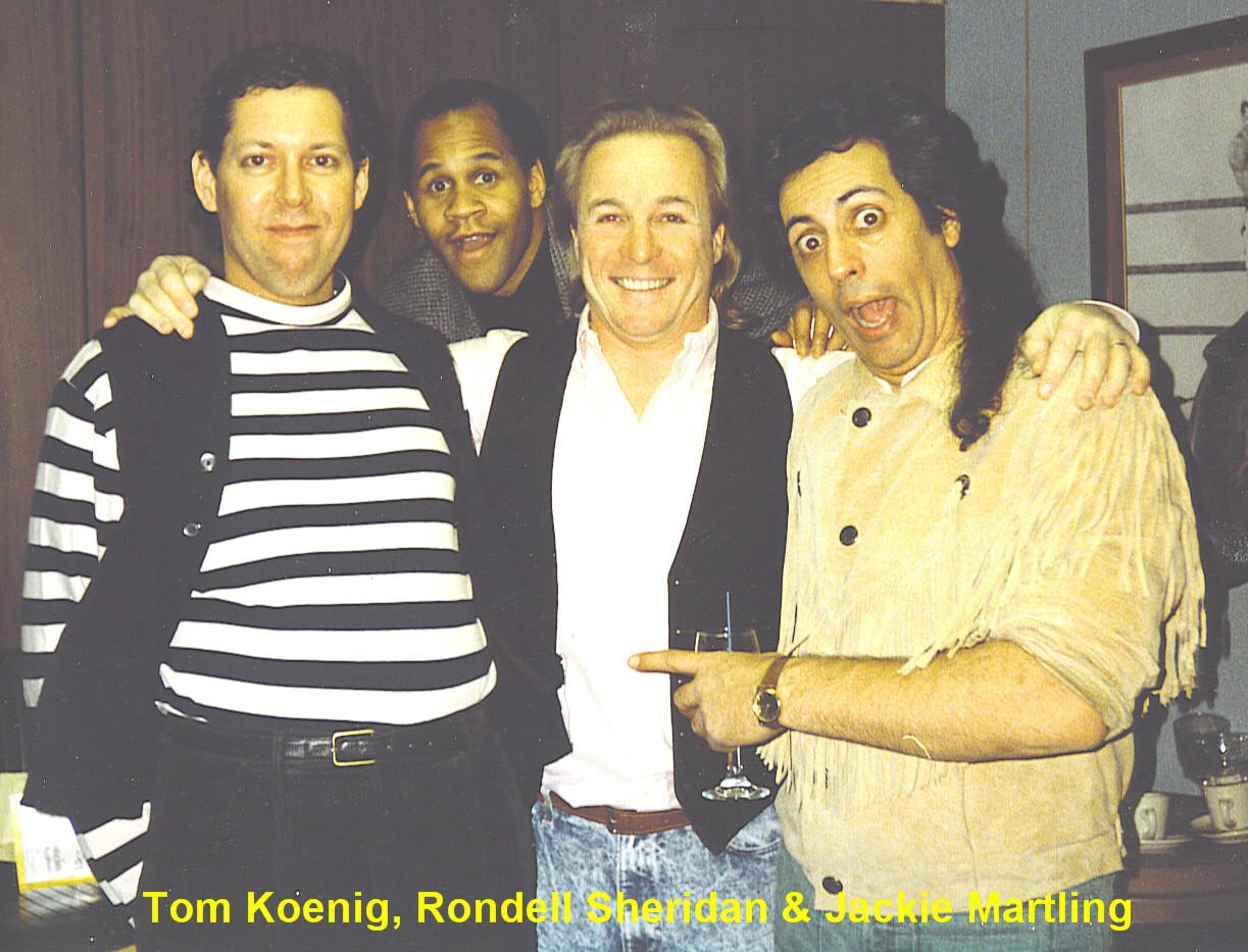 Tommy Koenig, Rondell Sheridan & Jackie Martling