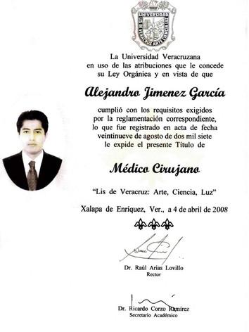 TITULO DE MEDICO CIRUJANO