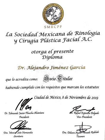 SOCIEDAD MEXICANA DE RINOLOGIA Y CIRUGIA PLASTICA FACIAL