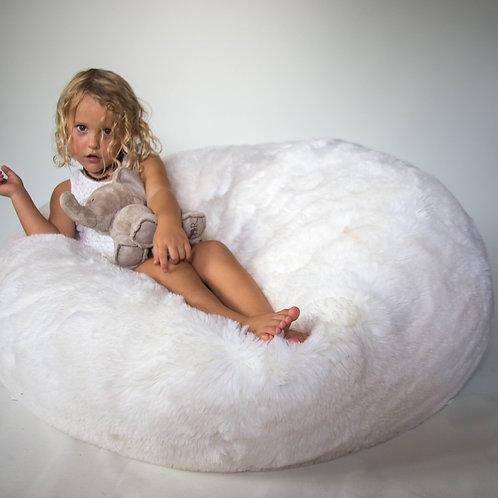 Fluffy snow beanbag