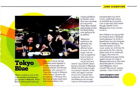 2009 June - Tokyo Blue mention.png