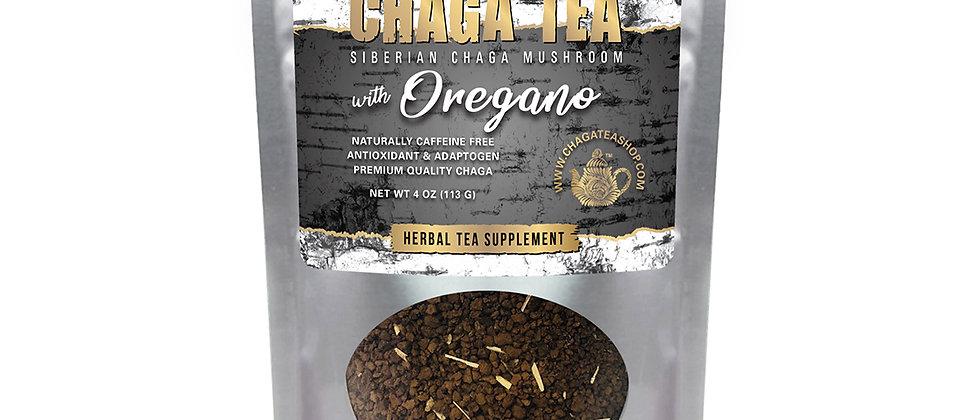 Siberian Chaga Mushroom Loose Tea with Oregano 4 oz (113g) Caffeine-free