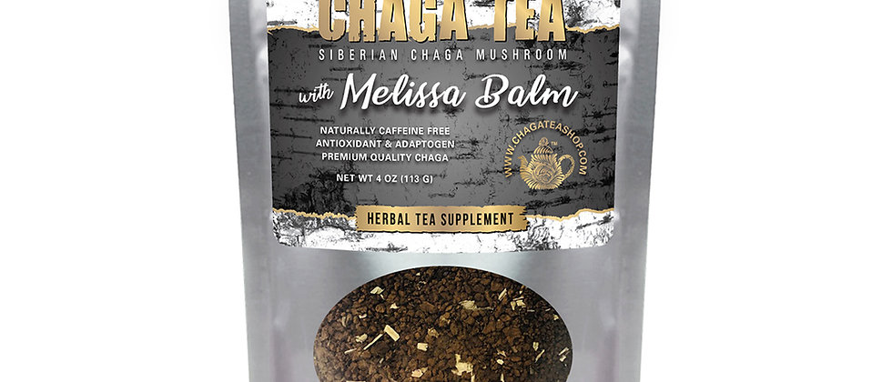 Siberian Chaga Mushroom Loose Tea with Melissa Balm 4 oz (113g) Caffeine-free