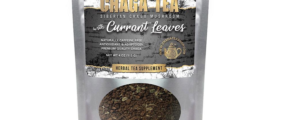 Siberian Chaga Mushroom Loose Tea with Currant Leaves 4 oz (113g) Caffeine-free