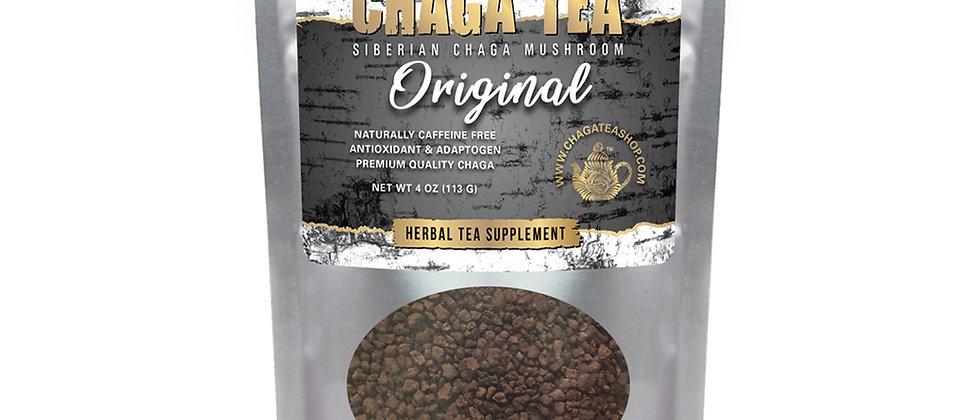 Siberian Chaga Mushroom Loose Tea Original 4 oz (113g) Caffeine-free