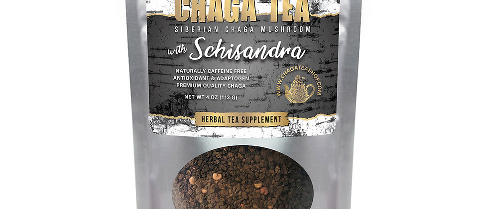 Siberian Chaga Mushroom Loose Tea with Schisandra 4 oz (113g) Caffeine-free
