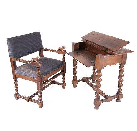 Baroque style Desk & Armchair