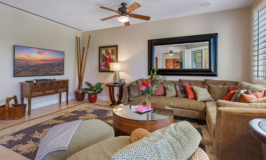 Wailea Beach Villas Living Room