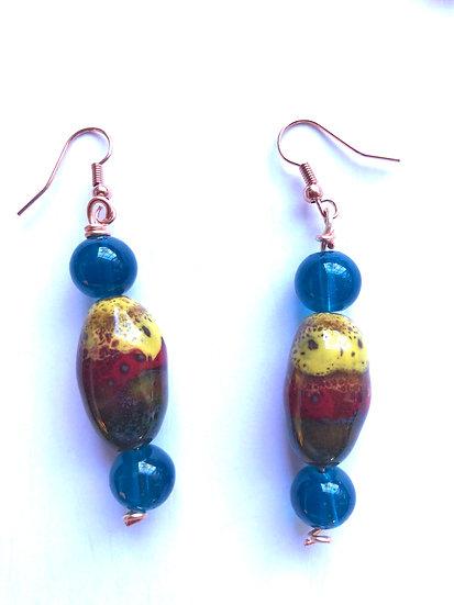 Blue & Yellow Earrings