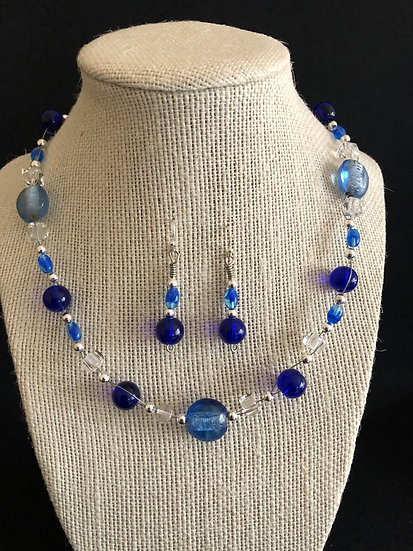 Blue Beaded Set