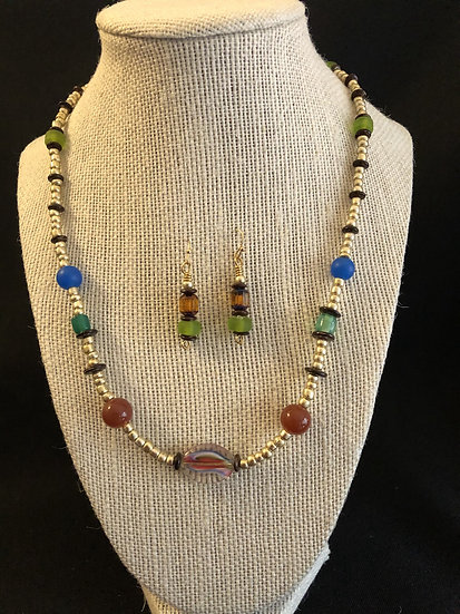 Tri-color Beaded Set