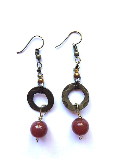 Brown & Rustic Glass Earrings