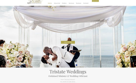 Officiant Website The site created is for an officiant who provides ...